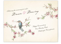 Blue Bird of Happiness Reception Cards