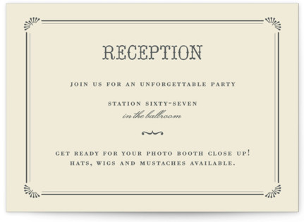 Stache + Kiss Reception Cards