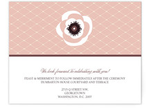 White French Anemone Reception Cards
