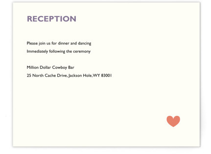 Two Brides Reception Cards