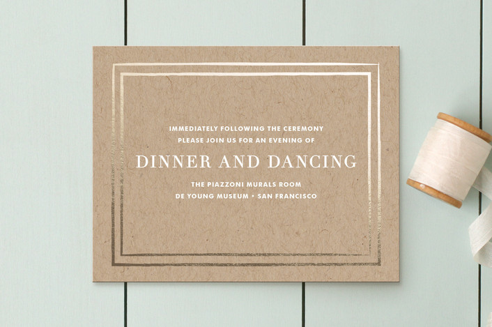 """""""Band of Gold"""" - Modern Reception Cards in Kraft by annie clark."""