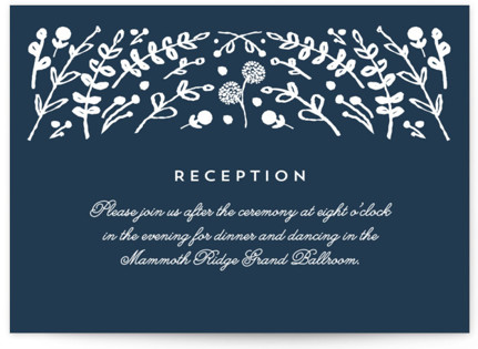 Floral Frame Square Reception Cards