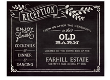 Slated Forever Reception Cards