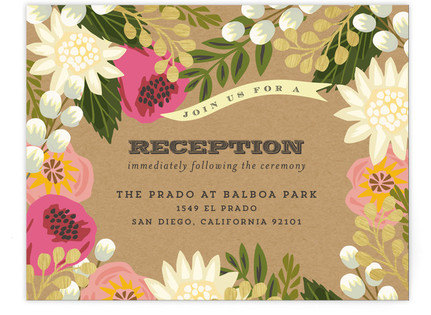Floral Canopy Reception Cards