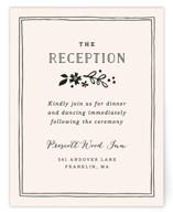 Alabaster Florals Reception Cards