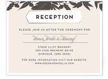 Sophisticated Floral Reception Cards