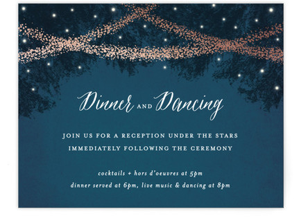 Strands Of Lights Reception Cards