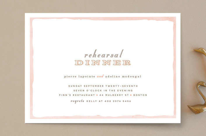 """Sweet Frame"" - Modern, Whimsical & Funny Rehearsal Dinner Invitations in Coral by chocomocacino."