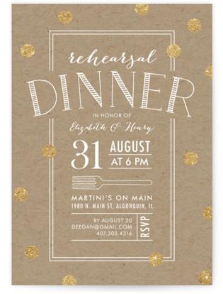 Fork on Kraft Rehearsal Dinner Invitations