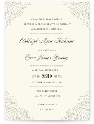 Splendorous Rehearsal Dinner Invitations