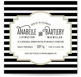 Ascot Chic Rehearsal Dinner Invitations