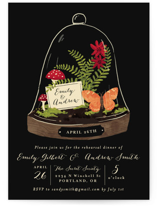 Bell Jar Rehearsal Dinner Invitations