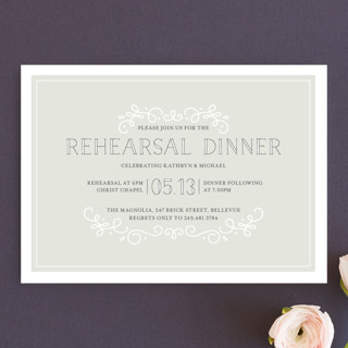 Sophisticate Rehearsal Dinner Invitations