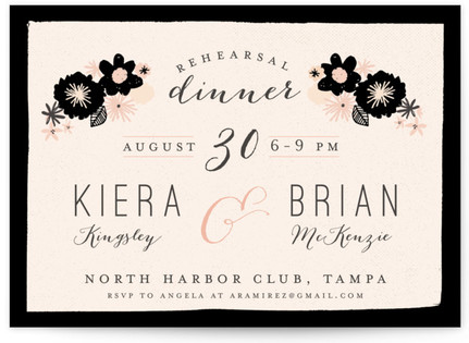 Dinner Rehearsal Dinner Invitations