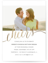 Raise A Glass Foil-Pressed Rehearsal Dinner Invitations