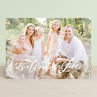 All Glory to Him Above Christmas Photo Cards