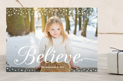 Believe Christmas Photo Cards