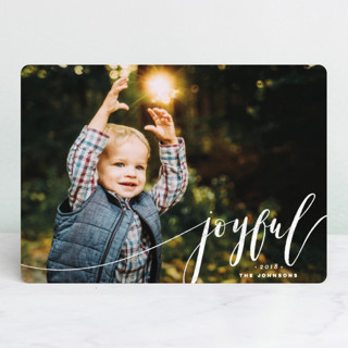 Blessed Hand Lettered Christmas Photo Cards