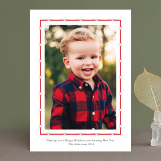 Simple Border Christmas Photo Cards