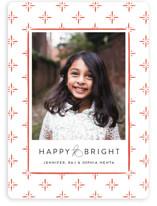 Cross Hatch Christmas Photo Cards