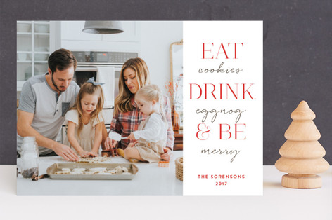 Eat Drink & Be Christmas Photo Cards