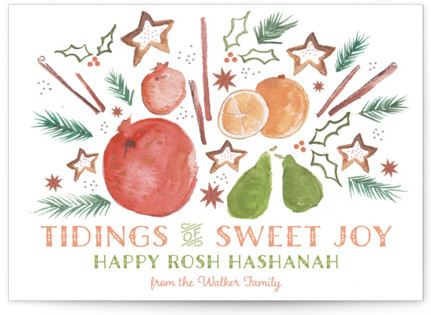 Tidings of Sweet Joy Rosh Hashanah Cards