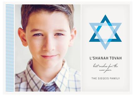 Blue Star Rosh Hashanah Cards