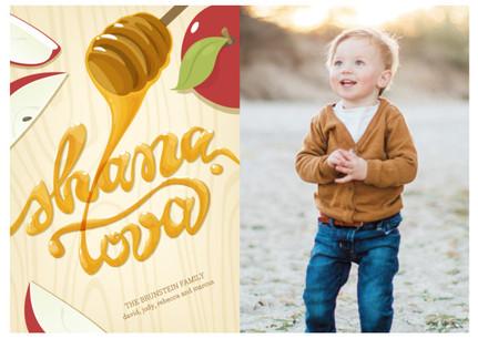 Honey Script Rosh Hashanah Cards