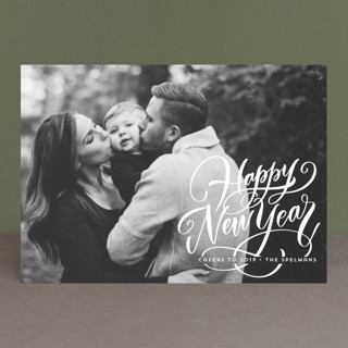Scripted Year New Year's Photo Cards