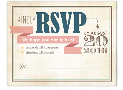 Eclectic RSVP Postcards
