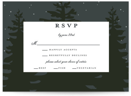 Enchanted Forest RSVP Postcards
