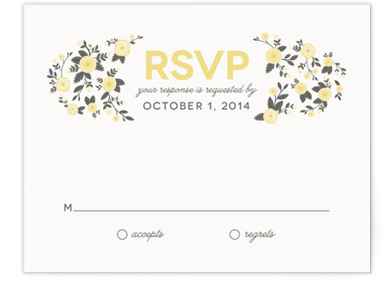 Cheerful Bloom RSVP Postcards