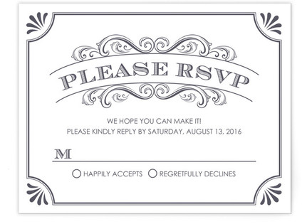 A Chalkboard Marriage RSVP Postcards