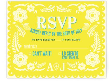 Papel Picado RSVP Postcards