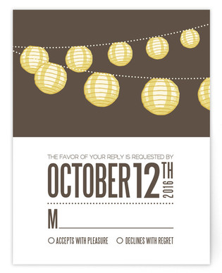 Paper Lanterns RSVP Postcards