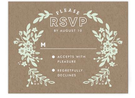 Ampersand Floral RSVP Postcards