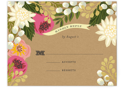 Floral Canopy RSVP Postcards