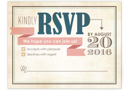 Eclectic RSVP Cards
