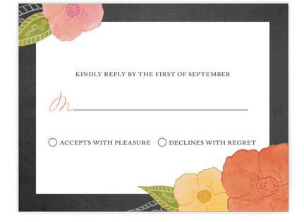 A Punch of Poppies RSVP Cards