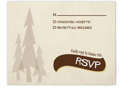 In the Woods RSVP Cards
