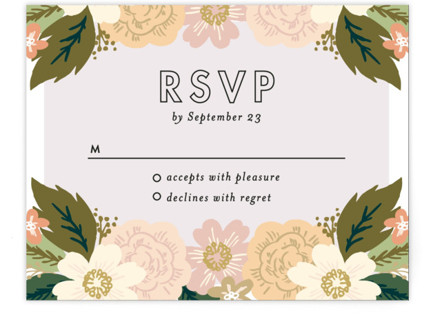Classic Floral RSVP Cards
