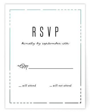 Crystal Curtain RSVP Cards