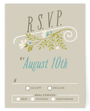 Delicate Blooms RSVP Cards