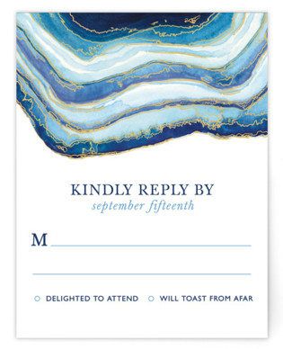Gilt Agate RSVP Cards