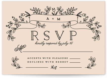 Wedding Bouquet RSVP Cards