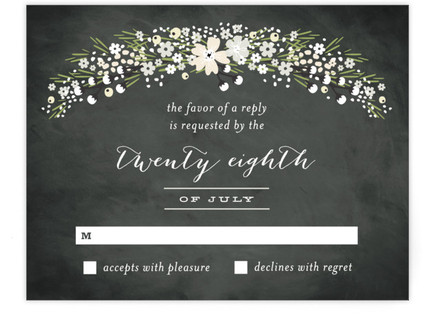 Wildflower Bouquet RSVP Cards