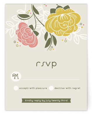 Breezy Bouquet RSVP Cards