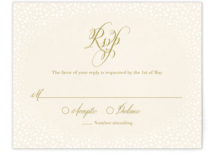 Baby's Breath RSVP Cards
