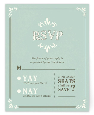 Marquee RSVP Cards