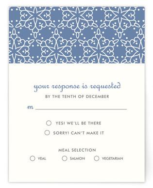 Winter Wedding RSVP Cards